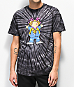 Grizzly Lil P camiseta negra con efecto tie dye