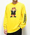 Grizzly Lil Red  camiseta de manga larga amarilla