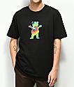 Grizzly Tie Dye Bear Black T-Shirt