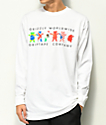 Grizzly Worldwide Tribe White Long Sleeve T-Shirt