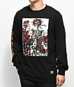 Grizzly x Grateful Dead Skeleton and Roses Black Long Sleeve T-Shirt