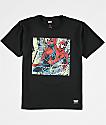 Grizzly x Marvel Spider Aerial camiseta negra para niños
