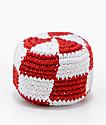 Guatemalart Checkerboard Red & White Hacky Sack
