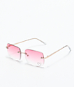 Gwen Pink Gem Rectangle Glasses