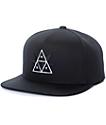 HUF 420 Triple Triangle Black Snapback Hat
