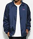 HUF Bar Logo Navy Coaches Jacket