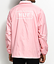 HUF Bar Logo Pink Coaches Jacket