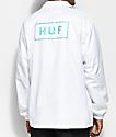 HUF Bar Logo White Coaches Jacket