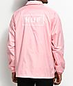 HUF Bar Logo chaqueta entrenador en rosa
