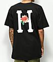 HUF Bara Flower Classic H camiseta negra