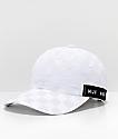HUF Blackout White Checkered Strapback Hat