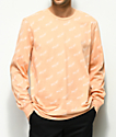HUF Bolt All Over Peach Long Sleeve T-Shirt