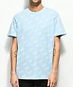 HUF Bolt All Over camiseta en azul claro