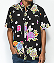 HUF Botanica Black Short Sleeve Button Up Shirt