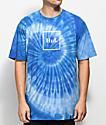 HUF Box Logo Spiral Blue Tie Dye T-Shirt