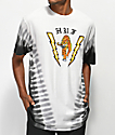 HUF Case Closed White & Black Tie Dye T-Shirt