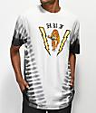 HUF Case Closed camiseta con efecto tie dye blanco y negro