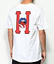 HUF Classic H Lips camiseta blanca