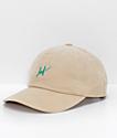 HUF Corduroy Script Sand Strapback Hat