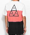 HUF Dip Dye Natural, camiseta rosa y negro