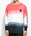 HUF Dip Dyed Black & Red Long Sleeve T-Shirt