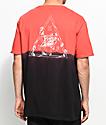 HUF Dip Dyed camiseta roja  y   negro con efecto tie dye