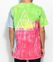 HUF Drip Dye Rainbow camiseta con efecto tie dye
