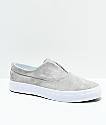 HUF Dylan Slip-On Ash & White Skate Shoes