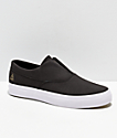 HUF Dylan Slip-On Black & White Leather Skate Shoes