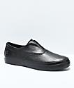 HUF Dylan Slip-On Black Full Grain Leather Skate Shoes