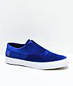 HUF Dylan Slip-On Blue Velvet Skate Shoes
