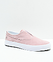 HUF Dylan Slip-On Pink & White Skate Shoes