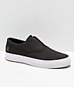 HUF Dylan Slip-On zapatos skate de cuero negro y blanco