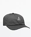 HUF Essentials Triple Triangle Charcoal Strapback Hat