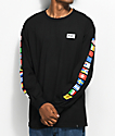 HUF Flags Black Long Sleeve T-Shirt