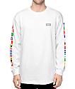 HUF Flags camiseta manga larga en blanco