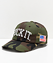 HUF Fuck It Big Camo Strapback Hat