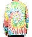 HUF Fun camiseta de manga larga con efecto tie dye