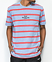 HUF Golden Gate Stripe Knit Blue T-Shirt