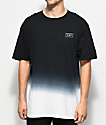 HUF Gradient Dip Dye Black T-Shirt
