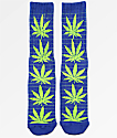 HUF Grid Plantlife Navy & Green Crew Socks
