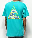 HUF High Tide Triple Triangle camiseta turquesa