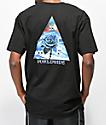 HUF Ice Rose Triangle camiseta negra