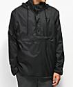 HUF Kumo Reversible Black & Camo Quarter Zip Jacket