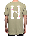 HUF La Vie En Rose Classic H Olive T-Shirt