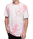 HUF La Vie En Rose Crystal Wash camiseta rosa