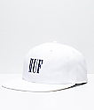 HUF Marka White 6 Panel Strapback Hat