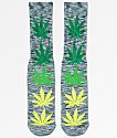 HUF Melange Plantlife calcetines en gris y verde
