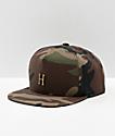 HUF Metal H Woodland Camo Strapback Hat
