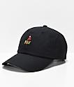 HUF Parrot Black Strapback Hat
